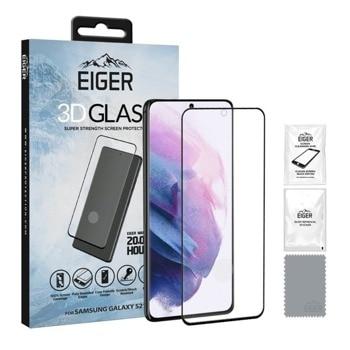 Протектор от закалено стъкло /Tempered Glass/ Eiger 3D (EGSP00697) за Samsung Galaxy S21, извит, черен-прозрачен image