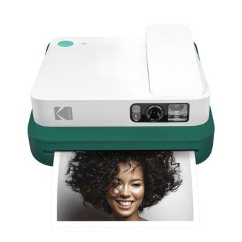 Мобилен принтер Kodak Smile Classic Green RODCLASGN, цветен термичен фотопринтер, micro SD слот, Bluetooth, зелен image