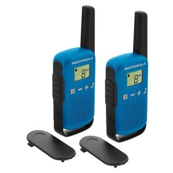 Радиостанции Motorola Talkabout T42 PMR, PMR446, 16 канала, до 4 km, лесно сдвояване, сини image