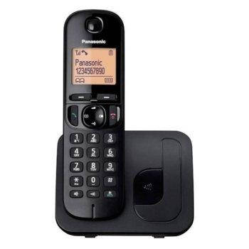 "Безжичен телефон Panasonic KX-TGC210, 1.6""(4.06cm) LCD дисплей, високоговорител, интерком, адресна памет за 50 номера, черен image"