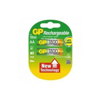 Акумулаторна батерия GP 1800AAHC-2UE2, AA, 1.2V, 1800mAh, NiMH, 2бр. image