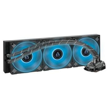Водно охлаждане за процесор Arctic Freezer II RGB 420mm, съвместимост със сокети Intel 1200/115X/2011-3/2066 & AM4 image