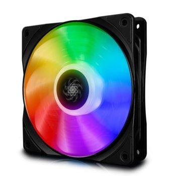 Вентилатор 120мм DeepCool CF120 DP-FA-RGB-CF120-1, 4-pin, 1500rpm, програмируема RGB LED подсветка image