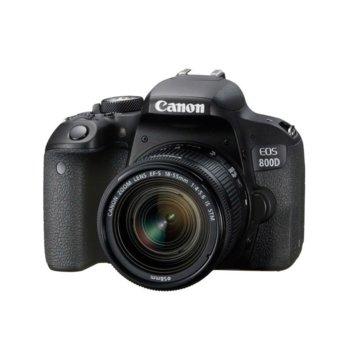 "Фотоапарат Canon EOS 800D в комплект с обектив EF-S 18-55 IS STM, 24.2 Mpix, 3.0"" (7.62 cm)TFT сензорен дисплей, Wi-Fi, HDMI mini, USB, SDXC/SDHC/SD слот image"