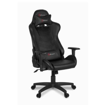 Геймърски стол Arozzi Mezzo V2, до 120kg, наклон назад до 165°, изкуствена кожа, черен image
