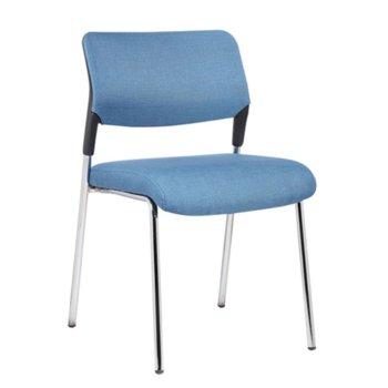 Посетителски стол RFG Evo 4L M, син, 5 броя в комплект image