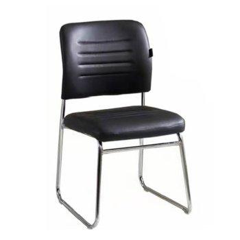 Посетителски стол RFG Iron M, черен, 6 броя в комплект image