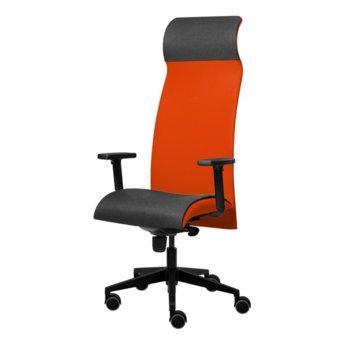 Президентски стол Tronhill Solium Executive (ON4010200039), дамаска и меш, 120 кг. максимално натоварване, 5 заключващи се работни позиции, червен image