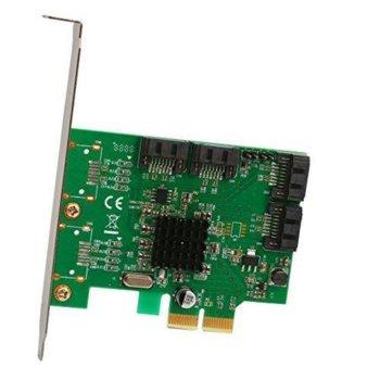 Контролер Estillo CI-40-52-E3-1, от PCI-E 2.0 x4 към 4x SATA III image