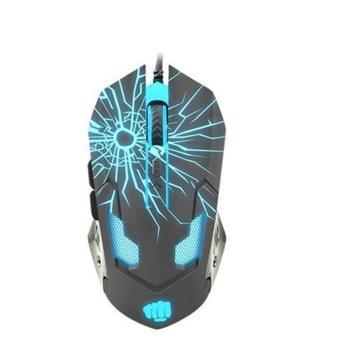 Мишка Fury Gladiator, оптична (3200 dpi), USB, сива, гейминг, подсветка, 6 бутона image