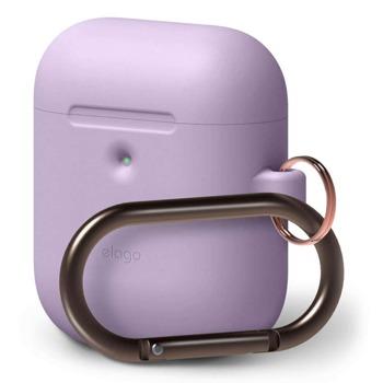 Защитен калъф Elago Silicone Hang Case за Apple Airpods / Apple Airpods 2, лилав image