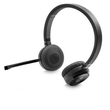 Слушалки HP Unified Communications Wireless Duo Headset, безжични, Bluetooth, NFC, микрофон, до 7 часа време на работа, черни  image
