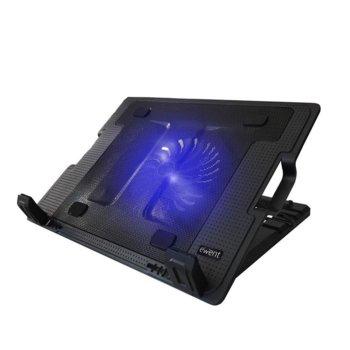 """Стойка за лаптоп Ewent EW1258, до 17"""", охлаждаща, USB хъб, черна image"""