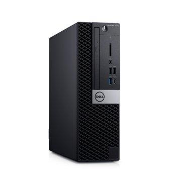 Настолен компютър Dell OptiPlex 7070 SFF (N014O7070SFF), осемядрен Coffee Lake Intel Core i7-9700 3.0/4.7 GHz, 16GB DDR4, 512GB SSD, 5x USB 3.1 Gen 1, клавиатура и мишка, Windows 10 Pro  image