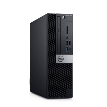 Настолен компютър Dell OptiPlex 7070 SFF (N014O7070SFF), осемядрен Coffee Lake Intel Core i7-9700 3.0/4.7 GHz, 16GB DDR4, 512GB SSD, 5x USB 3.1 Gen 1, клавиатура и мишка, Windows 10 Pro  image