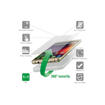 Протектор от закалено стъкло /Tempered Glass/, 4Smarts за Asus Zenfone MAX, в комплект с 4smart TPU кейс image