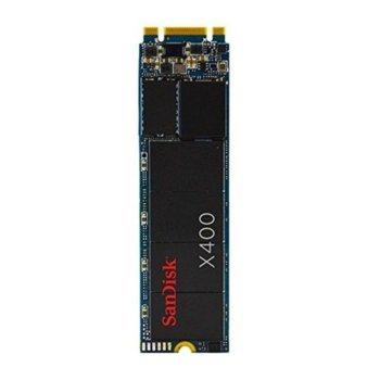 Памет SSD 128GB SanDisk X400, SATA 6Gb/s, M.2 (2280), скорост на четене 540MB/s, скорост на запис 340MB/s image