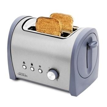 Тостер Cecotec Steel Toast 2S, 6 степени, неръждаема стомана, автоматично изключване, 800W, сив image