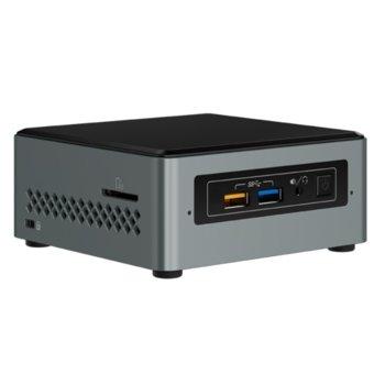 Мини компютър Barebone Intel NUC Kit NUC6CAYH, четириядрен Apollo Lake Intel Celeron J3455 1500MHz, без твърд диск(M.2), Wi-Fi & Bluetooth, Lan1000, 1x HDMI, 1x VGA, 4x USB 3.0 image