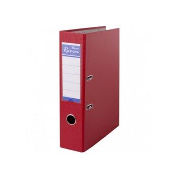 Класьор Rexon, за документи с формат до A4, дебелина 8см, с метален кант, червен image