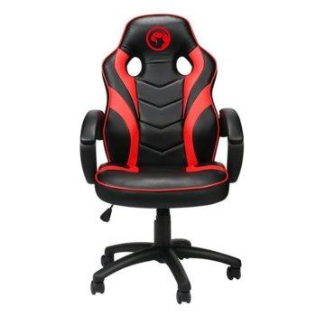 Геймърски стол Marvo MARVO-CH-301-RD, еко кожа, газов амортисьор, до 150 кг. черен/червен image