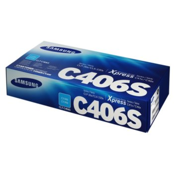 Касета за Samsung CLT-C406S - ST984A - Cyan - заб.: 1 000k image
