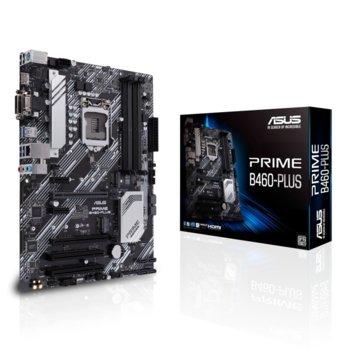 Дънна платка Asus PRIME B460-PLUS, B460, LGA1200, PCI-E 3.0 (D-Sub§DVI-D&HDMI), (CFX), 6x SATA3, 2x M.2, 4x USB 3.2 Gen 1, ATX image