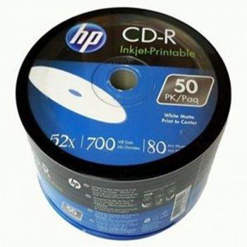 Оптичен носител CD-RW media 700MB, HP, 52x, 50бр. image