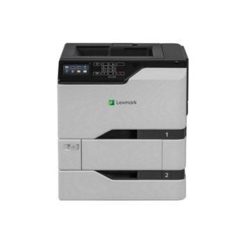 Лазерен принтер Lexmark CS725dte, цветен, 1200x1200 dpi, 47/47стр/мин, LAN, USB image