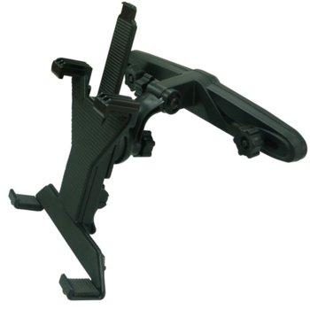 Стойка за таблет 7-14', закрепване на седалка, подходяща за всички видове портативни устройства: GPS навигации, iPad, Ipod, черна image