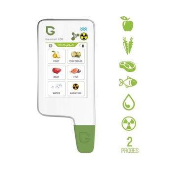 Тестер за нитрати Grееntest 6, нитратомер за плодове, зеленчуци, месо и риба и уред за измерване твърдостта на водата и нивото на фонова радиация image