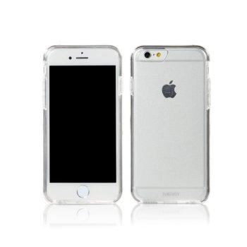 Страничен протектор с гръб Remax, TPU материал, за Apple iPhone 6 Plus и iPhone 6S, прозрачен с черна лайстна image