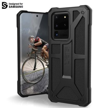 Калъф за Samsung Galaxy S20 Ultra, хибриден, Urban Armor Monarch 211991114040, удароустойчив, черен image