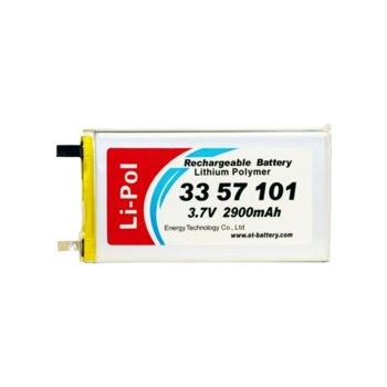 Литиева батерия LP3357101, 3.7V, 2900mAh, Li-polymer, 1бр. image