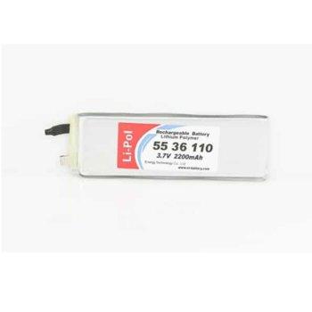 Литиева батерия LP5536110, 3.7V, 2200mAh, Li-polymer, 1бр. image