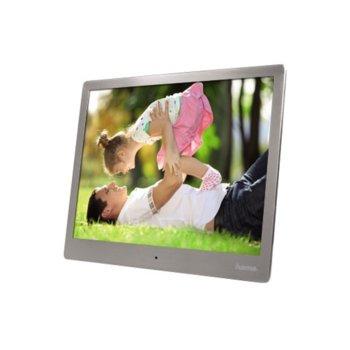 Фоторамка Hama Slim Steel, 1024х768, 4GB, поддържа SDHC/MMC/SD карти, дистанционно image