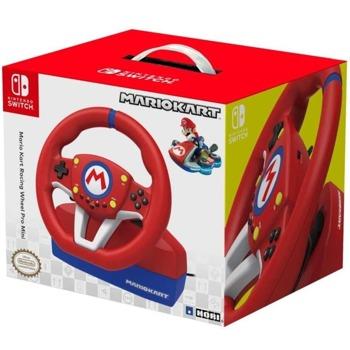 Волан с педали HORI Mario Kart Racing Wheel Pro Mini, за Nintendo Switch, червен image