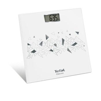 Електронен кантар Tefal PP1153V0 Classic Mosaic Silver, капацитет 160 кг, автоматично включване, бял image