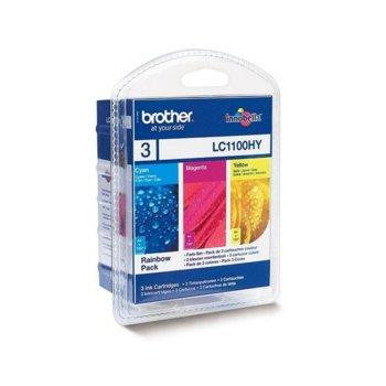 ГЛАВА ЗА BROTHER Blister Rainbow High Pack LC1100HYRBWBP C/M/Y  image
