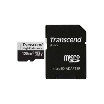 Карта памет 128GB microSDXC с адаптер, SanDisk High Endurance, U1 Class 10 UHS-I, скорост на четене 95MB/s, скорост на запис 45 MB/s image