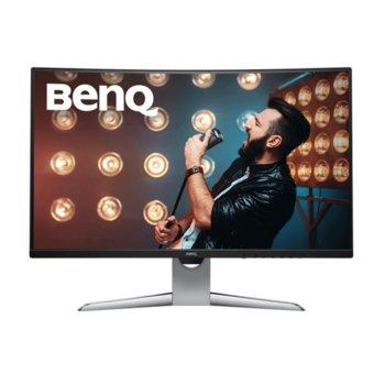 """Монитор BenQ EX3203R в комплект със слушалки JBL Quantum 300, 31.5"""" (80.01 cm) VA панел, WQHD, 4 ms, 20 000 000:1, 400 cd/m2, DisplayPort, HDMI, USB Type C image"""