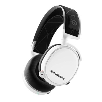 Слушалки SteelSeries Arctis 7 2019 Edition, гейминг, безжични(Wireless 2.4GHz), микрофон, до 24 часа време за работа, бързи бутони, бели image