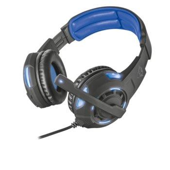 Слушалки Trust GXT 350 Radius 7.1, геймърски, USB, черни image