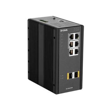 Суич D-Link DIS-300G-8PSW, 4x 100/1000BaseT ports(PoE), 2x 100/1000BaseT ports, 2x 100/1000Base SFP ports image