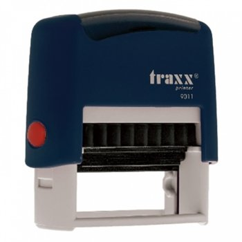 Автоматичен печат Traxx 9011 син, 38/14 mm, правоъгълен image