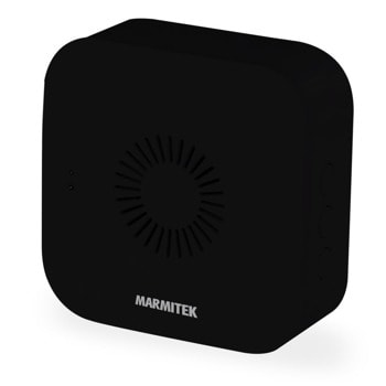 Звънец Marmitek Bell ME 08502, безжичен, работи само със Marmitek 08501 BUZZ LO звънец, 80 метра oбхват, 4 степени на регулиране силата на звука, черен image