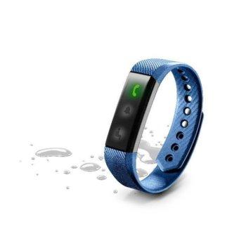 Смарт гривна Cellular Line Easyfit Band, LCD дисплей, Bluetooth, до 7 дни работа, водоустойчива IP67, Android/iOS, синя image