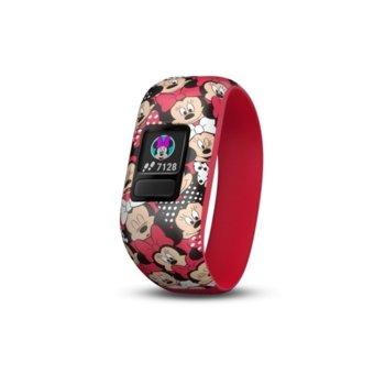 Смарт гривна Garmin vívofit® jr. 2, активити тракер за деца, 88x88 pix. дисплей, Bluetooth, водоустойчива, червен(mini mouse) image