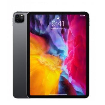 """Таблет Apple iPad Pro (2nd Generation)(MXE62HC/A)(сив), 4G/LTE, 11"""" (27.94 cm) Liquid Retina дисплей, осемядрен Apple A12Z Bionic, 6GB RAM, 512GB Flash памет, 12.0 + 10.0 MPix & 7.0 MPix камера, iPad OS, 473g image"""
