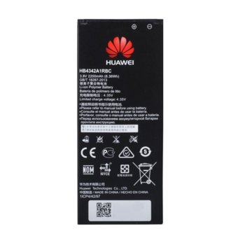 Батерия (оригинална) Huawei HB4342A1RBC за Huawei Y5 II, Y6, Y6 II compact, Honor 4A, 2200mAh/3.8V image